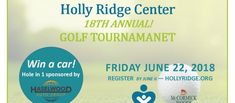 2018 Golf Tournament flyer